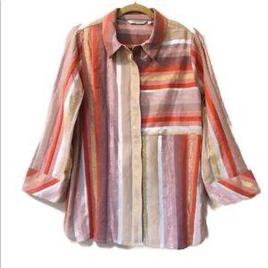 Soft Surroundings Maddalena Button Up Shirt PL